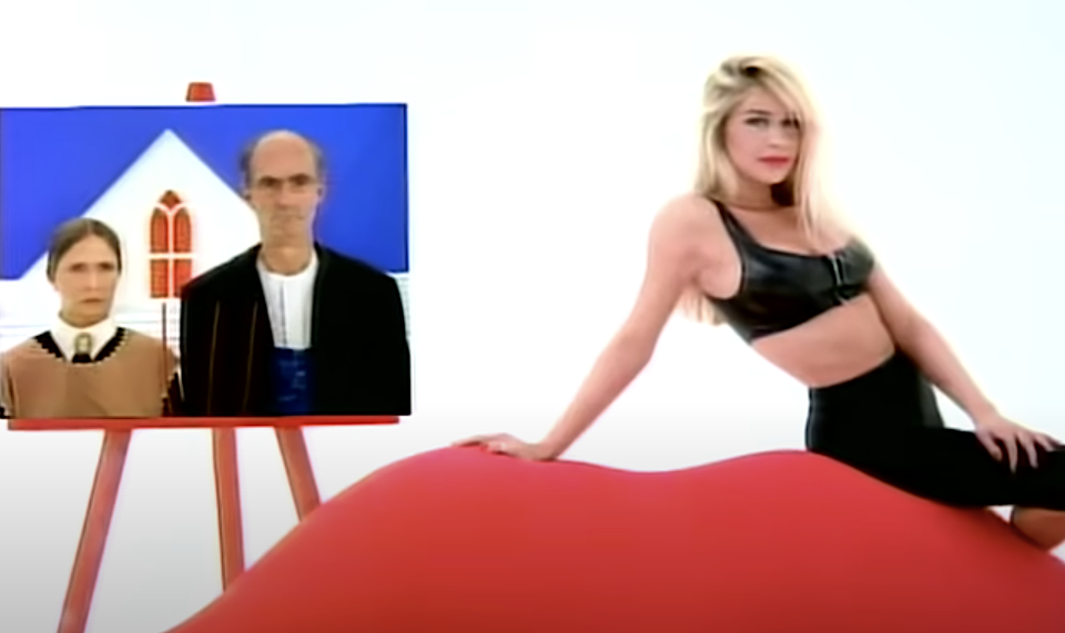 """Bobbie Brown in Warrant's """"Cherry Pie"""" music video. (Photo: Sony Music Label Group)"""