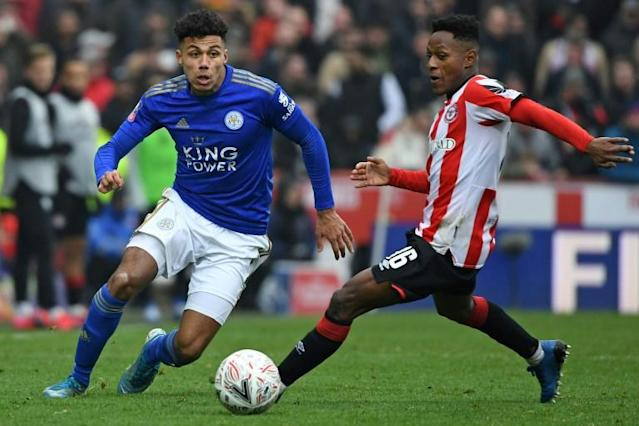 Brentford take on Leicester in the FA Cup (AFP Photo/DANIEL LEAL-OLIVAS)