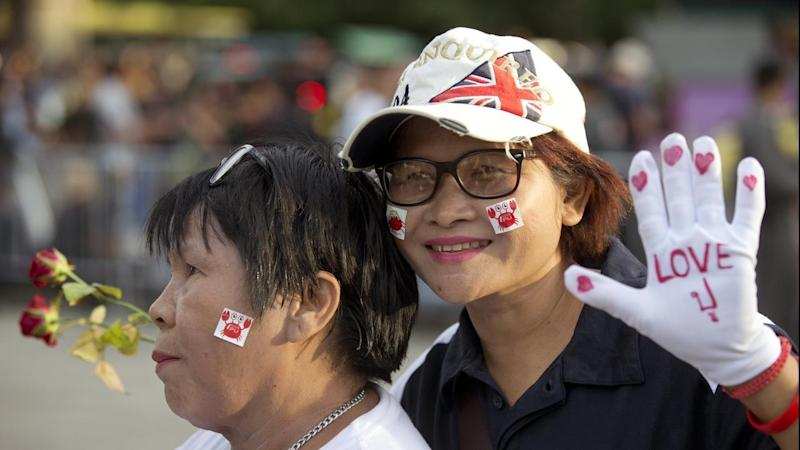 Supporters of former Thai prime minister Yingluck are gathering outside a Bangkok court.