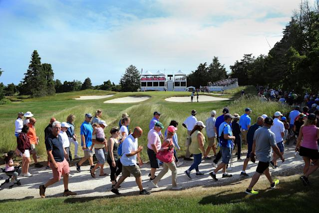 <p>17th hole: 115/104/92 yards</p> <p>Site of the ShopRite Classic, Seaview Golf Club's Bay Course in New Jersey has a ton of history. And that includes the tiny par-3 17th hole, with three bunkers across the front. A Hugh Wilson (of Merion fame) design, bunkered by Donald Ross. Those are some good genes.</p>