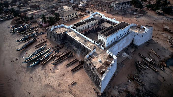 Aerial view of Fort Williams, Anomabu, Ghana
