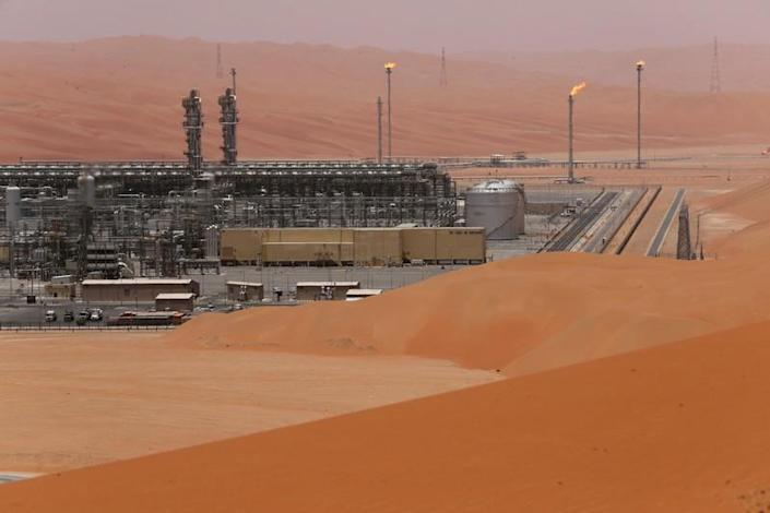 FILE PHOTO: General view of the Natural Gas Liquids (NGL) facility in Saudi Aramco's Shaybah oilfield at the Empty Quarter