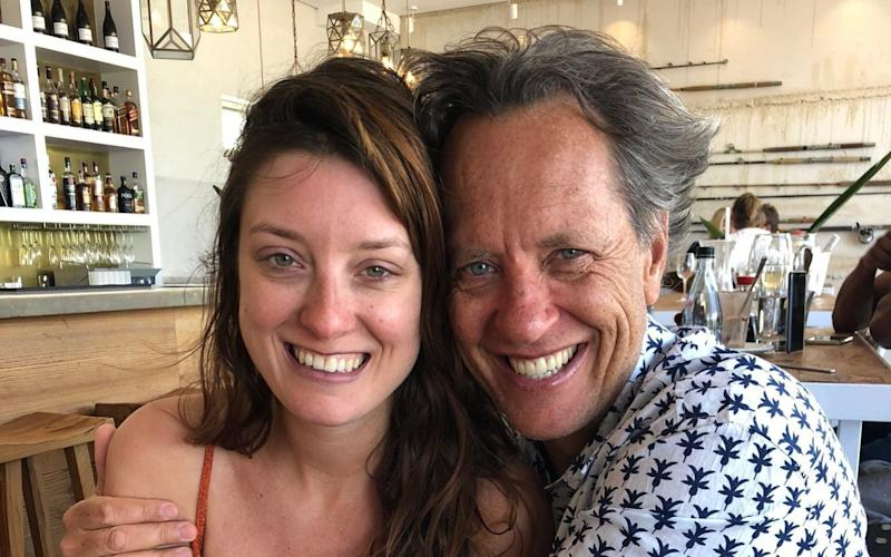Richard E. Grant with his daughter Olivia -  @RichardEGrant