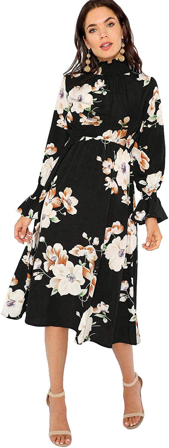 <p>This <span>Floerns Floral Print Dress</span> ($27) would be great for work.</p>