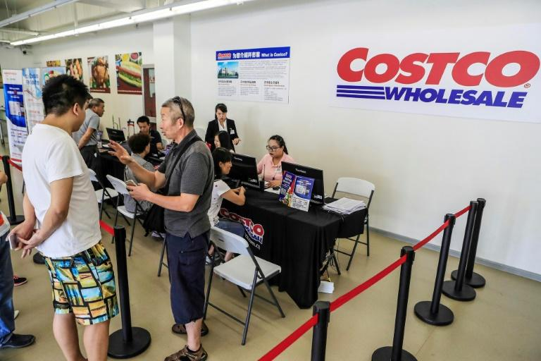 The fact that Chinese consumers are already familiar with a membership supermarket model could work to Costco's advantage (AFP Photo/STR)
