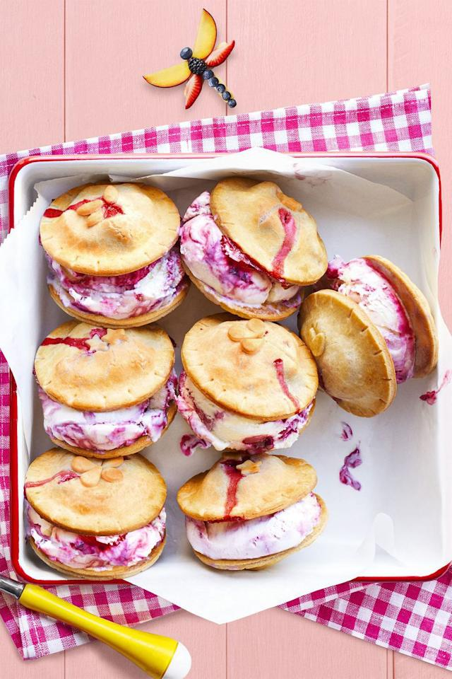 """<p>Ice cream sandwiches meet pie à la mode with these sweet summer bites.</p><p><strong><a rel=""""nofollow"""" href=""""https://www.womansday.com/food-recipes/food-drinks/recipes/a59001/fresh-berry-ice-cream-piewiches-recipe/"""">Get the recipe.</a></strong></p>"""