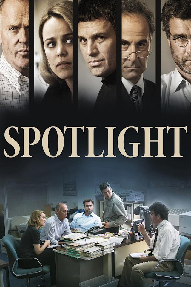 <p>Official Synopsis: Journalists (Mark Ruffalo, Michael Keaton, Rachel McAdams) from <i>The Boston Globe</i> investigate a cover-up of sexual abuse within the Roman Catholic Church.Available now on <b>Netflix</b>. <i>(Description and Photo: TMS)</i></p>