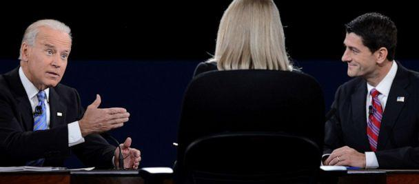 PHOTO: Vice President Joe Biden participates in the vice presidential debate with Republican vice presidential candidate Paul Ryan at the Norton Center at Centre College in Danville, Kentucky, Oct. 10, 2012. (Saul Loeb/AFP via Getty Images, FILE)