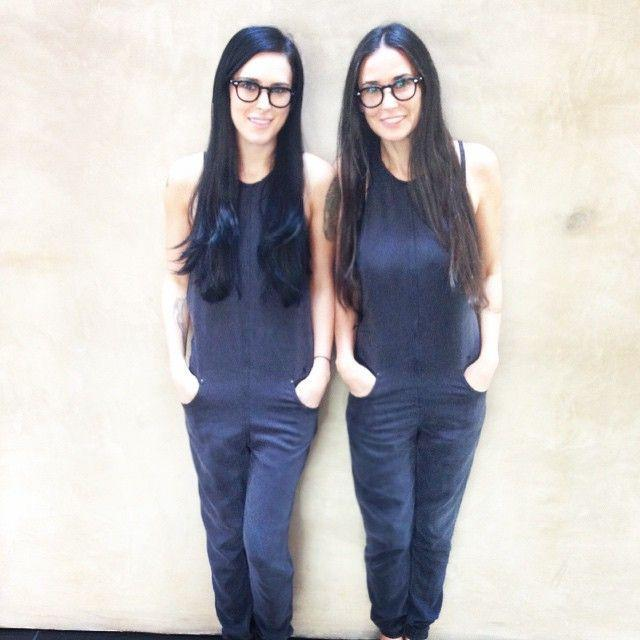 <p>Blame the matching glasses and dungarees, but these guys look the same even without the twinning outfits.</p>