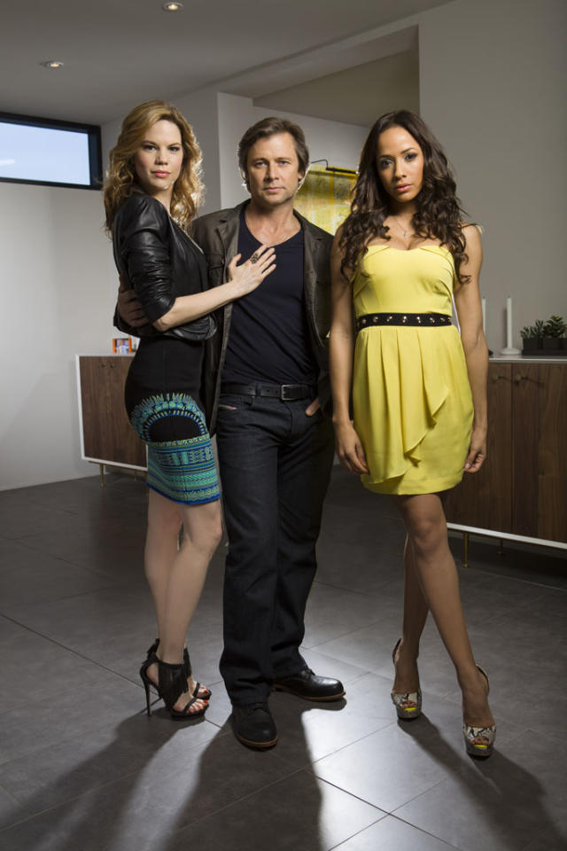 "Mariana Klaveno, Grant Show and Dania Ramirez in the Lifetime series ""Devious Maids."""