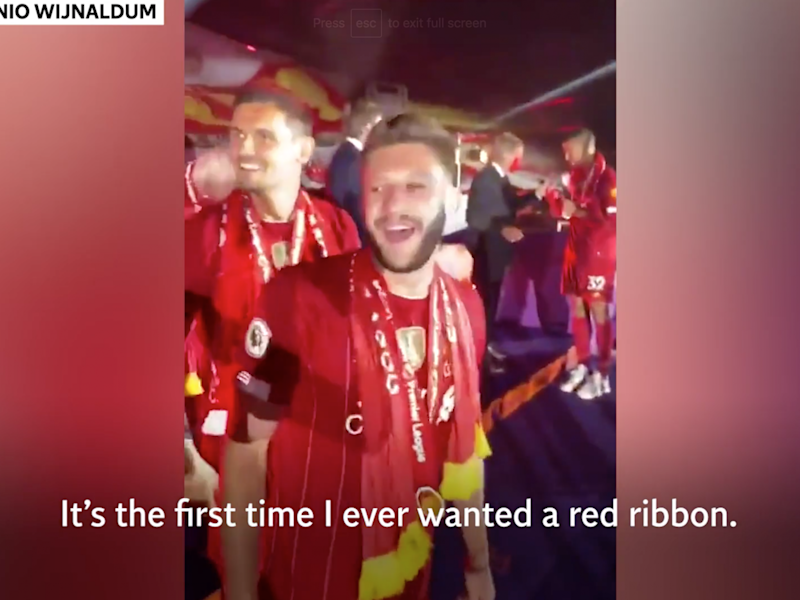 James Milner was heard calling Manchester United 'f****** w******' during Liverpool's title celebrations: Instagram/@gwijnaldum