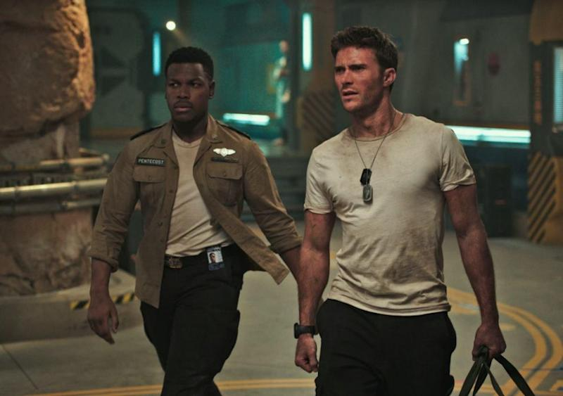 The hunk stars alongside Scott Eastwood in the new sci-fi flick Pacific Rim Uprising. Source: Universal Pictures