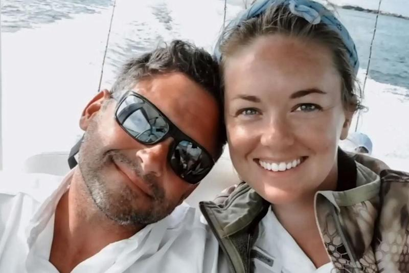 Jenna Evans pictured with fiancee Bob Howell