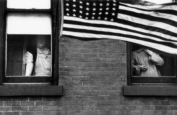 PHOTO: Parade, Hoboken, New Jersey, 1955. (Robert Frank from The Americans, courtesy Pace/MacGill)