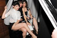 <p>Ginnifer Goodwin, Rose Byrne and Penny Lovell in 2012</p>