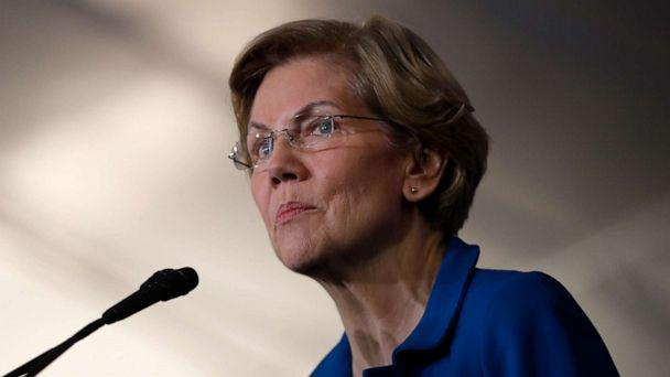 PHOTO: Democratic presidential candidate Sen. Elizabeth Warren appears at her New Hampshire primary night rally in Manchester, N.H., Feb. 11, 2020. (Brian Snyder/Reuters)
