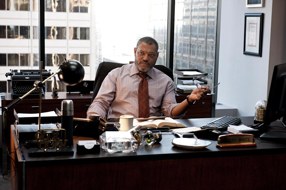 Laurence Fishburne as Perry White in <em>Man of Steel</em>. (AP Photo/Warner Bros. Pictures, Clay Enos)