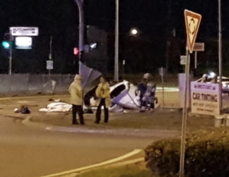 The four teens were killed in this crash in Townsville about 4.30am Sunday. Source: 9 News North Queensland