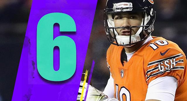 <p>It's concerning that the Bears said Mitchell Trubisky wouldn't have been able to practice on Monday due to a right shoulder injury. (Mitchell Trubisky) </p>