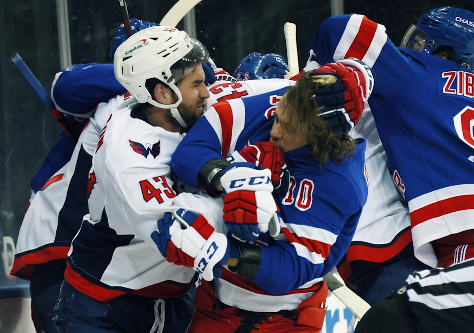 The New York Rangers thought the Washington Capitals' Tom Wilson should have been suspended for injuring Artemi Panarin.