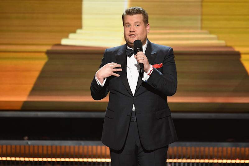 Helping hand: James Corden: Kevin Winter/Getty