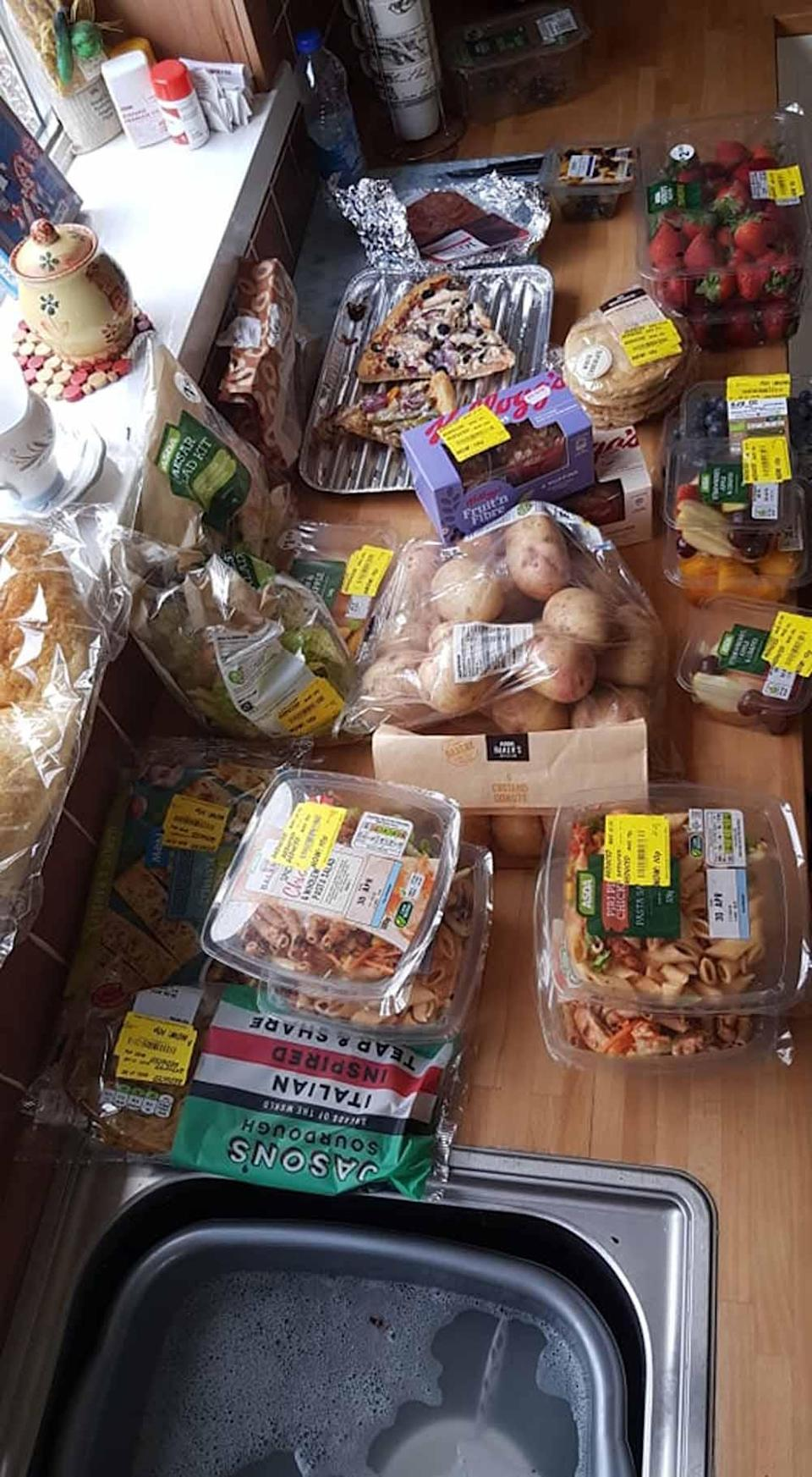 Yellow sticker potatoes, fruit, vegetables and pasta salads. PA REAL LIFE COLLECT