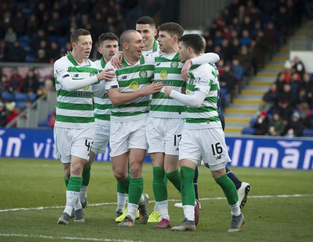 Ryan Christie and Scott Brown are among the Celtic players calling for a united front (Ian Rutherford/PA)