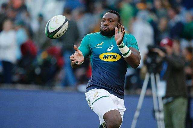 President's man: South Africa prop Tendai Mtawarira (AFP Photo/MARCO LONGARI)