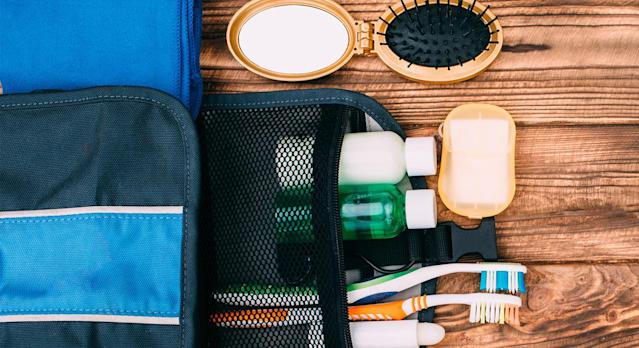 This Wilford & Sons Travel Toiletry Bag will make light work of packing for your next holiday (Getty Images)