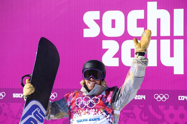 SOCHI, RUSSIA - FEBRUARY 08: Sage Kotsenburg of the United States reacts after his first run during the Snowboard Men's Slopestyle Final during day 1 of the Sochi 2014 Winter Olympics at Rosa Khutor Extreme Park on February 8, 2014 in Sochi, Russia. (Photo by Julian Finney/Getty Images)