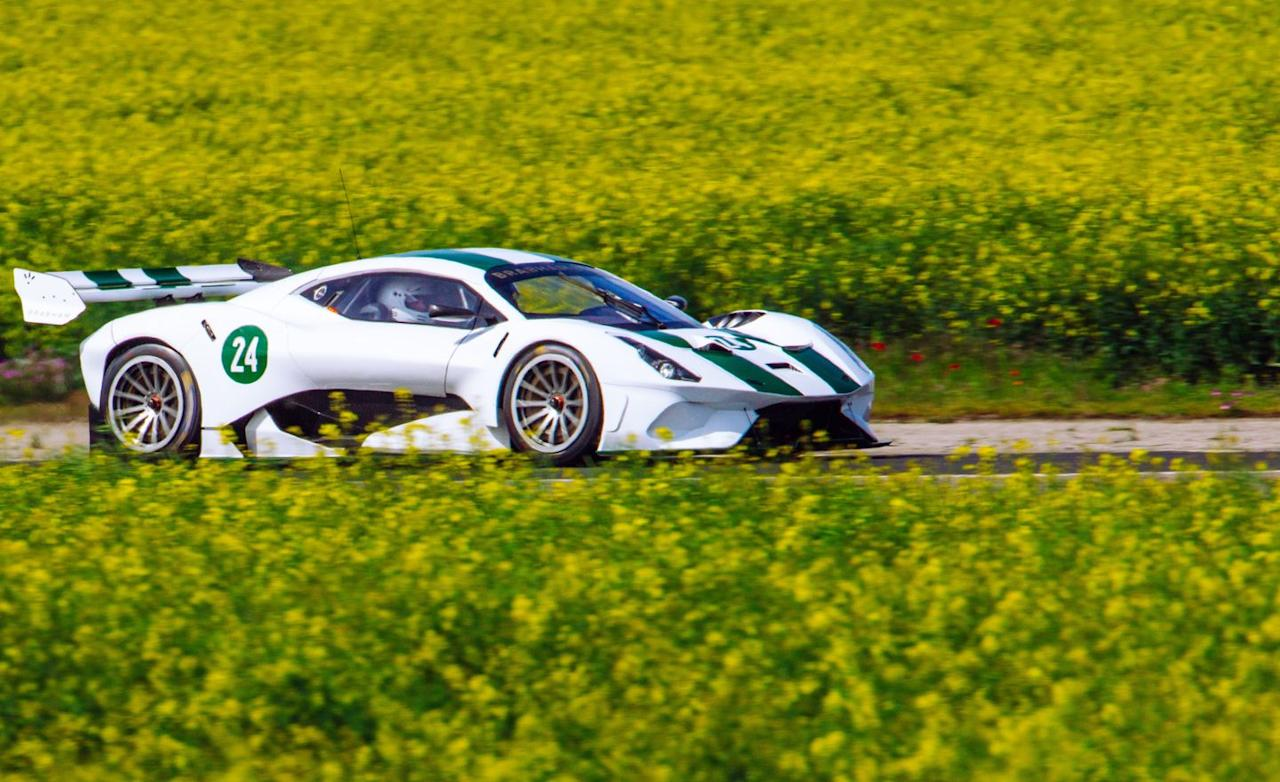 <p>Two of the more impressive numbers on the BT62's spec sheet are 2143 pounds, the car's claimed dry weight, and 2645 pounds, the maximum amount of aerodynamic downforce that its wings, spoilers, and body are capable of producing at speed.</p>