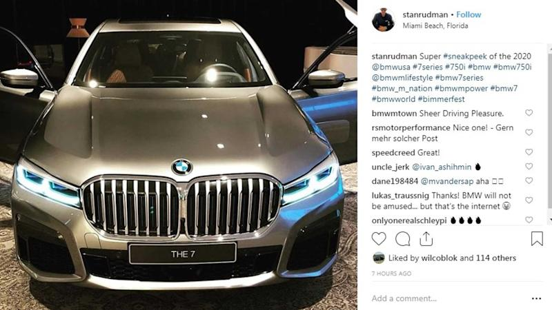 2020 Bmw 7 Series Massive Kidney Grille Leaked