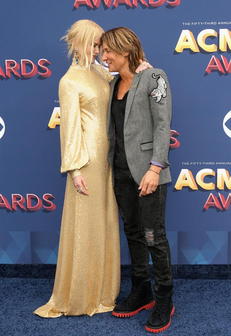 Nicole Kidman and Keith Urban looked more loved up than ever before when attending the Country Music Awards in Las Vegas on Sunday. Source: Getty
