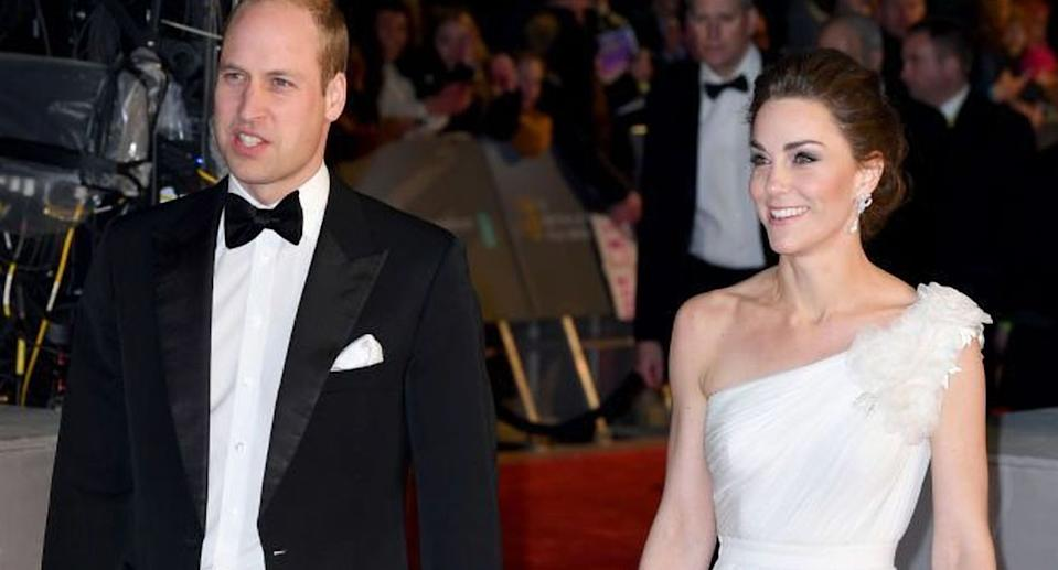 Kate Middleton arrived at the BAFTAs in a dreamy dress