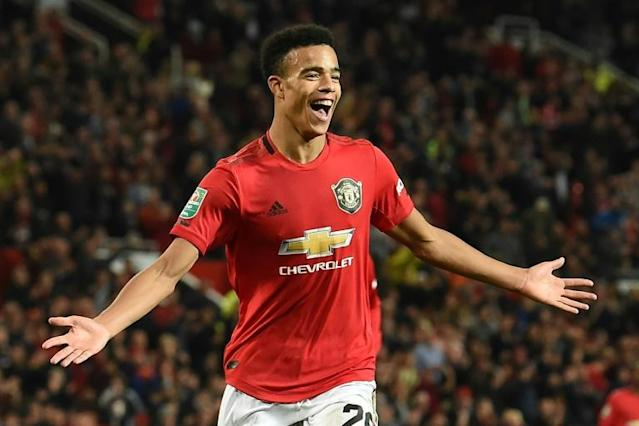 Manchester United forward Mason Greenwood, 18, has scored in two of his three starts this season (AFP Photo/Paul ELLIS )