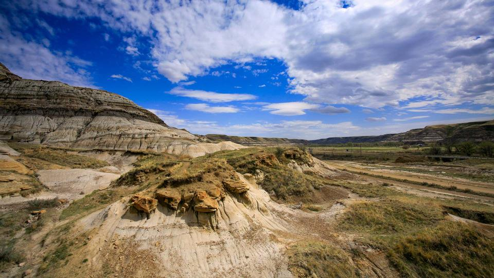 The Canadian Badlands in Alberta. (Getty Images)