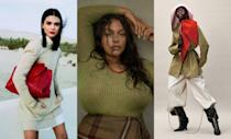 Kendall Jenner, Paloma Elsesser, and Adut Akech wearing Ferragamo by Paul Andrew in the pages of <em>Vogue</em>. The designer exited the label earlier this week.