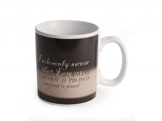Embrace the magic of the marauder's map with this colour-changing mug (Harrods)