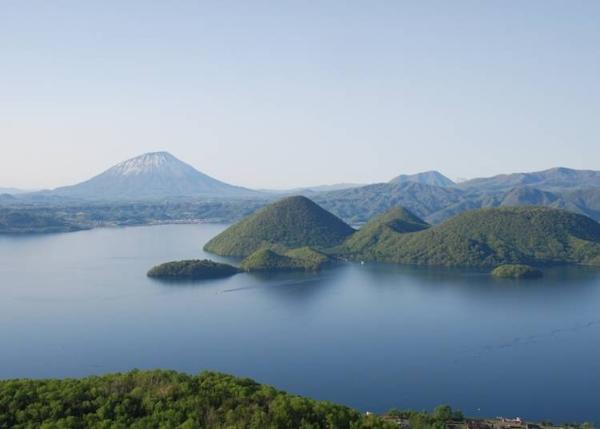 Island in Lake Toya and Mount Yotei