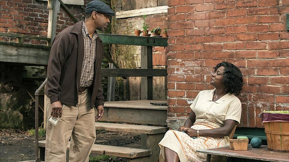 Denzel Washington played Troy Maxson and Viola Davis acted as his wife, Rose in the adaptation of August Wilson's work Fences, about the struggles of a working class African American family in the 1950s