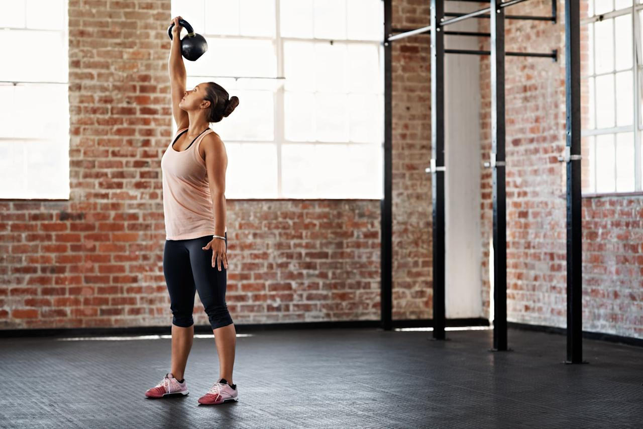 """<p>If you want to improve your upper-body strength and build lean muscle, try this <a href=""""https://www.popsugar.com/fitness/CrossFit-Dumbbell-Arm-Workout-45758487"""" class=""""ga-track"""" data-ga-category=""""Related"""" data-ga-label=""""https://www.popsugar.com/fitness/CrossFit-Dumbbell-Arm-Workout-45758487"""" data-ga-action=""""In-Line Links"""">dumbbell workout</a> straight from a CrossFit coach. </p>"""