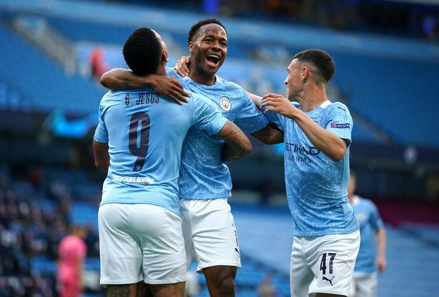 Raheem Sterling, centre, could feature against the Gunners (Dave Thompson/PA)