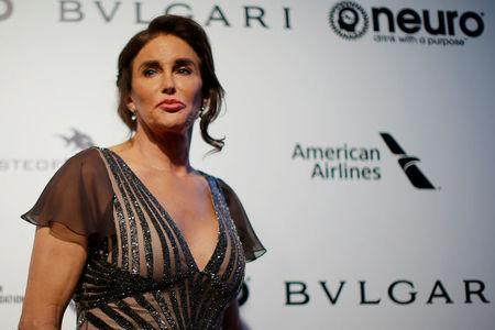 FILE PHOTO: Caitlyn Jenner poses for photographers at the 2017 Elton John AIDS Foundation Academy Awards Viewing Party in Los Angeles