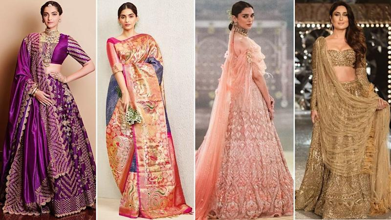 Celebrity Bridal Looks: Outfit Inspiration From Sonam Kapoor, Kareena Kapoor and Alia Bhatt For Your Wedding Day Lehengas and Saris