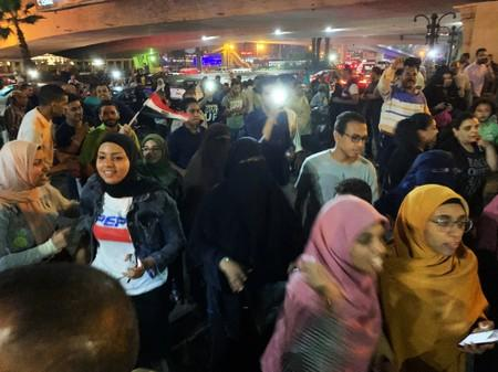 People gather in Tahrir Square in Cairo
