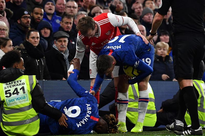 Injury blow: Chelsea will assess Tammy Abraham's knock on Wednesday (AFP via Getty Images)