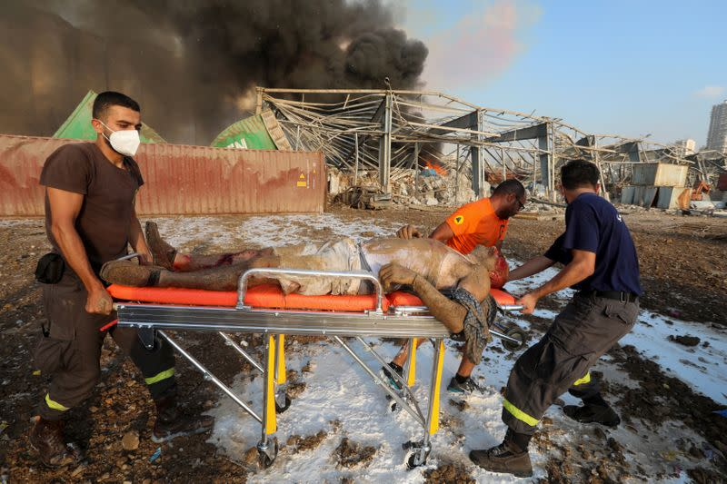 A Picture and its Story: How a photographer captured a Beirut rescue