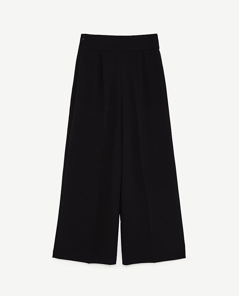 """<p><strong>ZARA</strong></p><p>zara.com</p><p><strong>$49.90</strong></p><p><a href=""""https://www.zara.com/us/en/high-waisted-pants-p05375040.html"""" target=""""_blank"""">Shop Now</a></p><p>Kate Middleton wore these high-waisted, black work pants from Zara this fall and we were immediately obsessed. The duchess wore the wide-legged trousers for an <a href=""""https://www.marieclaire.com/fashion/a29163088/kate-middleton-black-zara-work-pants-buy/"""" target=""""_blank"""">appearance</a> at the Sunshine House Children and Young People's Health and Development Center, but these business casual gems are perfect for any working human, not just working royals. </p>"""