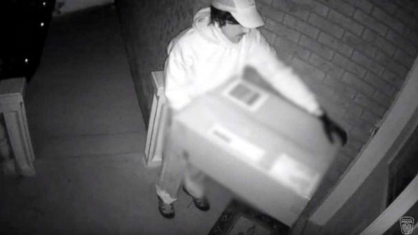 PHOTO: Canadian authorities released surveillance footage on Monday, April 15, 2019, showing a suspect who shot a woman with a crossbow on her front porch. (Peel Regional Police)