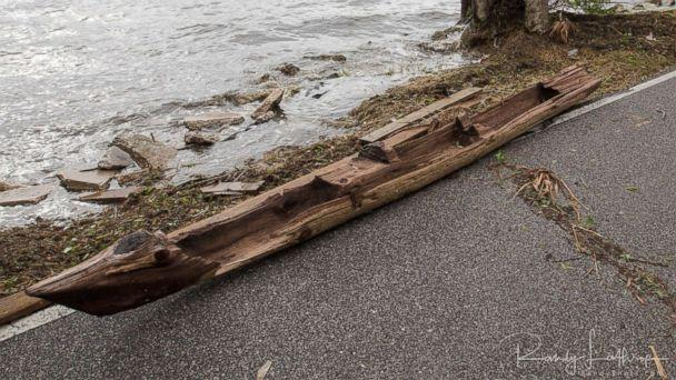 PHOTO: Randy Lathrop of Cocoa, Fla., discovered the historic dugout canoe, Sept. 11, 2017, after Irma struck the coast. (Randy Shots)
